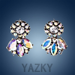 Fashion leaf and flower shape earring