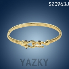 New snake gold plated stainless steel bracelet