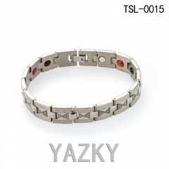 Titanium bracelet for man with ion stones