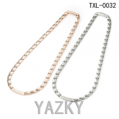 Elegant design Titanium necklace with zircons