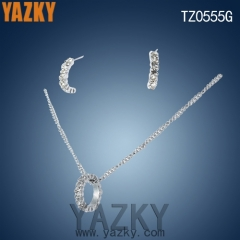 New design secret park round shape stainless steel jewelry set