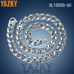 Stainless steel high polishing connecting chain necklace