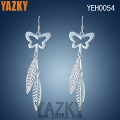 S925 silver leaf and butterfly new design earring