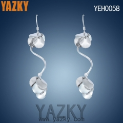 S925 silver earring innovative design long earring without diamond