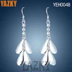S925 silver earring four leaf dangling earring