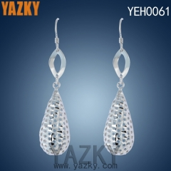 S925 silver earring big water drop earring